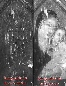 Confronto fra una fotografia in luce visibile e una fotografia all'infrarosso