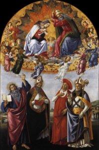 Botticelli, incoronazione della Vergine