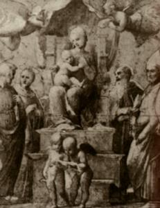 Raffaello, studio per la Madonna del Baldacchino
