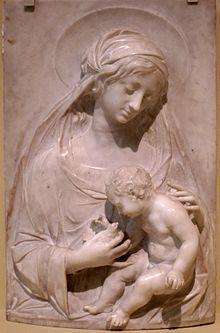 Alceo Dossena (1878-1937), Madonna col bambino,1930
