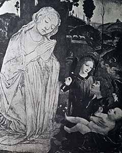 Lorenzo di Credi e Leonardo?, Vergine adorante e Angeli
