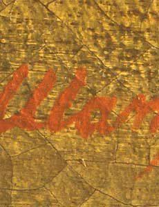 Firma aggiunta posteriormente al formarsi della craquelure